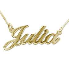 Any Personalized Jewelry 18K Gold Plated over 925 Sterling Silver Name Necklace