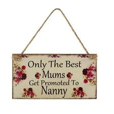 Mum Nanny Birthday Mothers Day Gift Photo Props Wall Plaque Home Hanging Sign