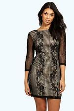Boohoo Womens Boutique Ana Lace Open Back Bodycon Dress