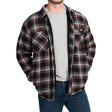 DICKIES SHERPA LINED FLANNEL JACKET Black/Red - Mens 3XL & 4XL NEW