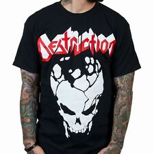 Destruction Cracked Skull Shirt SM, MD, LG, XL, XXL New