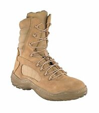 Reebok Mens Desert Tan Suede Nylon 8in Tactical Boots Fusion Max Soft Toe