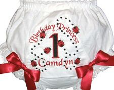 Personalized 1st, 2nd, 3rd Birthday Baby Diaper Cover Bloomers Lady Bug Free Shp