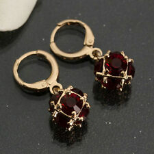 Red Crystal Women Fashion Lady Elegant Rhinestone Ear Drop Earrings Dangle CHI