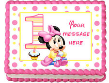 BABY MINNIE MOUSE Image Edible Cake topper Decoration