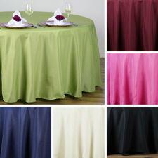 """36 pcs Wholesale Lot 108"""" ROUND POLYESTER TABLECLOTHS for Wedding Party Catering"""