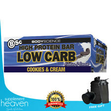 BODY SCIENCE PROTEIN BAR - BSC LOW CARB HIGH PROTEIN BARS 4 DELICIOUS FLAVOURS