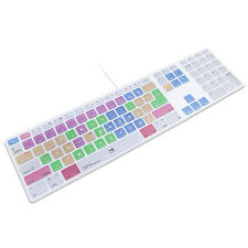 Adobe Premiere Pro CC Hotkeys Keyboard Cover Skin For Numeric Keypad For iMac G6