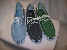 St. John's Bay Inlet Mens Boat Shoes CANVAS MULTIPLE SIZES/COLORS NEW IN BOX