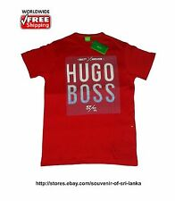 NWT Hugo Boss men's crew neck T-shirt, 100% Cotton Size S M L XL XXL Red 2