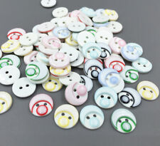 50/100pcs 2-Holes Round Resin Button Fit Sewing Scrapbooking 13mm DIY