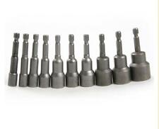 """1/4"""" to 6mm-19mm Socket Magnetic Nut Driver Set Adapter Drill Bit Hex Shank Tool"""