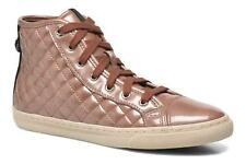 Women's Geox D NEW CLUB A D4258A Hi-top Trainers in Pink