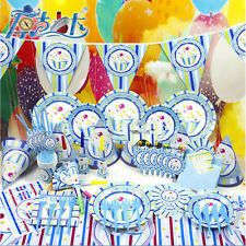 2016 Kids Party Supplies Baby Theme Birthday Tableware Napkins Plates Tablecover