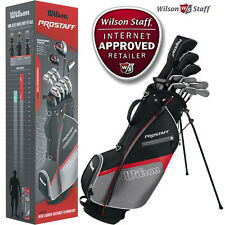 WILSON HDX  COMPLETE GOLF SET  IINCLUDING WOODS , PUTTER, WEDGE AND BAG.