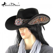 Montana West Cowgirl Collection Daisy Concho with turquoise stones Hat
