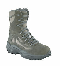 Reebok Womens Sage Green Suede Tactical Boots Rapid Response RB Comp Toe