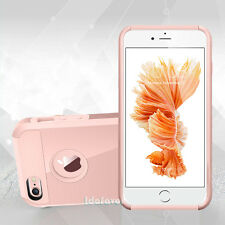 Hybrid Rubber Matte Hard Shockproof Case Cover Skin for Apple iPhone Rose Gold