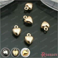 10*7MM Zinc Alloy Small Heart Charms Pendants Jewelry Findings Accessories 26804