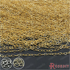 2 meters Chain width:3MM Copper Hearts Shape Chains Necklace Chains 27311