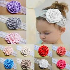 Rose Flower Bow Hair Band Headband Elastic For Babys Girls Infant Toddler Kids