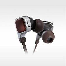 NEW JVC HA-FR65S Ear Phone Set Canal Type Metallic Body Flat Cable Black / Brown