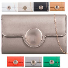 Ladies Faux Leather Designer Envelope Style Clutch Bag Bridal Bag Handbag K928