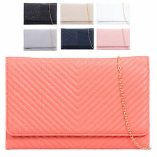 Ladies Faux Leather Designer Envelope Style Clutch Bag Bridal Bag Handbag K915