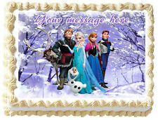FROZEN ELSA AND ANNA Image Edible Cake topper frosting sheets