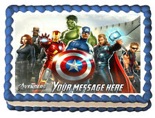 THE AVENGERS Movie Image Edible Cake topper Decoration