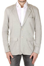 CORNELIANI ID Men Grey Flax Single Breasted Blazer Jacket 2 Buttons Italy Made