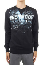 VIVIENNE WESTWOOD Men Black Westwood Printed Sweatshirt Made in Italy New
