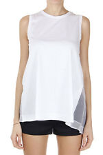 N°21 Women New White Open Back Top with Jewel Application Made in Italy