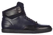 DIOR MEN'S SHOES HIGH TOP LEATHER TRAINERS SNEAKERS NEW B01 BLUE 941