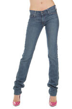 HABITUAL Women Blue Skinny Fit Stretch Denim GLORY Jeans Made in USA New