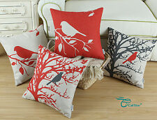 Shadow Bird in Tree Cushion Covers Pillows Shell Home Sofa Car Decor 45cm X 45cm