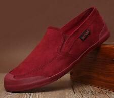 Men' leisure fashion breathable canvas slip on loafers driving moccasins shoes #