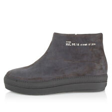 RUCO LINE PURE Jean Nouvel Women Grey leather Hammer light boots italy made