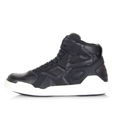 MARCELO BURLON Women Black Leather High Sneakers new Made in Italy