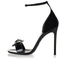 GUCCI Women Black Patent Leather Sandals Shoes Made in Italy New
