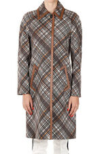 PRADA Women Brown Cotton Waterproof Coat Jacket Made in Italy $2179 NWT