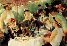 Poster Vintage LUNCHEON OF THE BOATING PARTY print on paper or Canvas Giclee