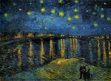 VAN GOGH STARLIGHT OVER THE RHONE by Van Gogh poster paper or Canvas Giclee