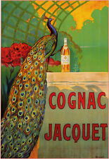Vintage COGNAC JACQUET Poster Print on Paper or Canvas Giclee