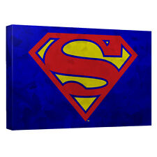 SUPERMAN GALVANIZED SHIELD CANVAS WALL ART