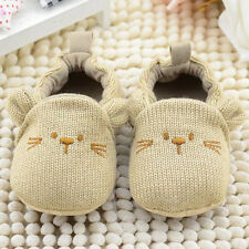 Cute Baby Boy Girl Knit Crib Shoes Soft Sole Newborn Infant Toddlers Prewalker