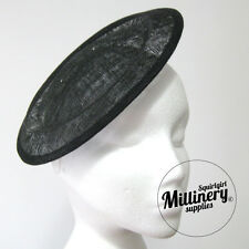 Large Round Saucer Sinamay Fascinator Hat Base for Millinery 5+ Colours