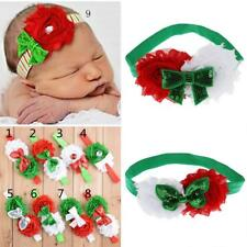 Sequined Baby Elastic Flower Bow Hair Band Headband Bracelet Christmas Gifts