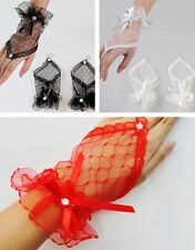 Wedding Fingerless Party Gloves Short Lace Bow Evening Dress Wrist Bridal