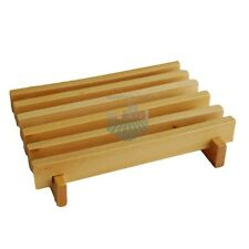SOAP FARM SLOTTED NATURAL PINE COLOR WOOD SOAP DISH